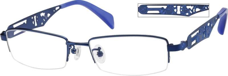 MenHalf RimStainless SteelEyeglasses #410716