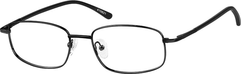 Men's Metal Rectangular Eyeglasses