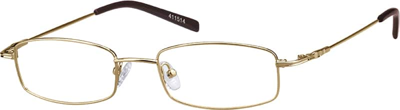 Metal-Alloy Rectangular Eyeglasses