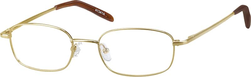Men's Curved-Edge Rectangular Eyeglasses