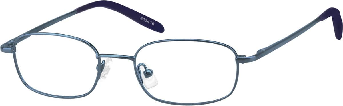 Blue 4134 Full Rim Metal Alloy with Spring Hinge