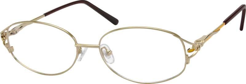 WomenFull RimMetalEyeglasses #413614