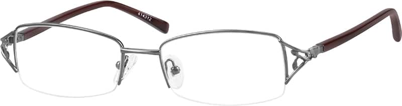 Women Half Rim Mixed Materials Eyeglasses #414312