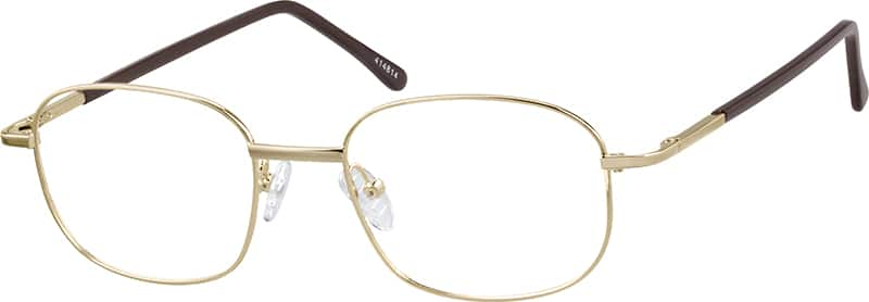 Men Full Rim Metal Eyeglasses #414812