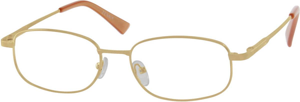 Men Full Rim Metal Eyeglasses #