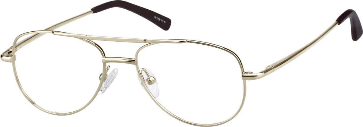 Metal Alloy Full-Rim Frame with Spring Hinges