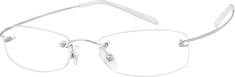 Silver 4206 Hingeless, Rimless Stainless Steel (Same Appearance as Frame #8206)