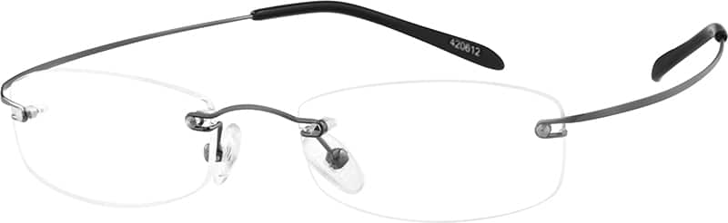 Grey 4206 Hingeless, Rimless Stainless Steel (Same Appearance as Frame #8206)