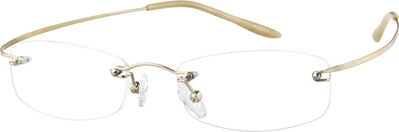 Gold4206 Hingeless, Rimless Stainless Steel (Same Appearance as Frame #8206)