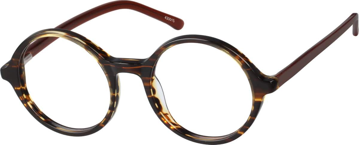 Round Tortoiseshell Glasses from Zenni