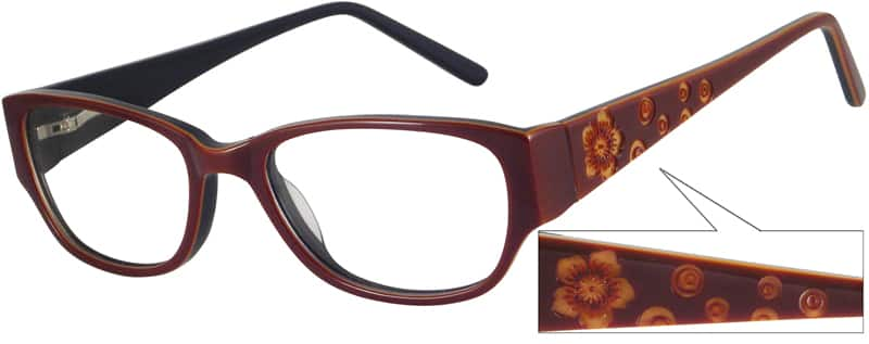 Women Full Rim Acetate/Plastic Eyeglasses #440821