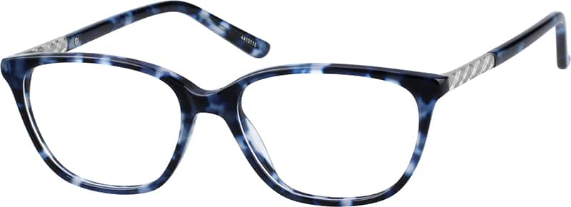 Zenni Blue Womens Cat-Eye Eyeglasses