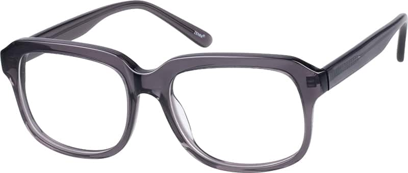 Translucent Grey Eyeglasses