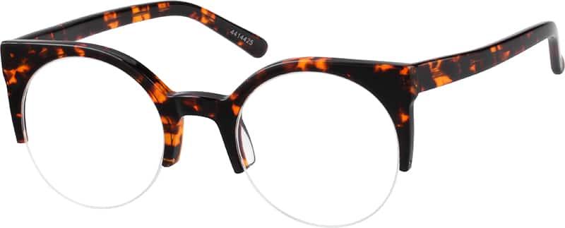 WomenHalf RimAcetate/PlasticEyeglasses #4414419
