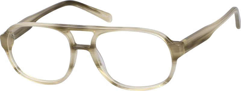 Men's Tortoiseshell Aviator Eyeglasses