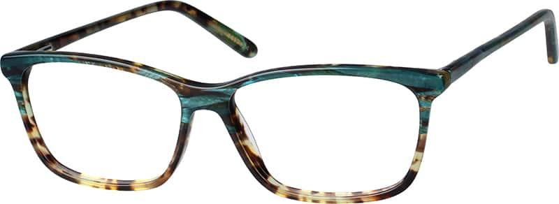 Green Eyeglass Frames Plastic : Green Rectangle Eyeglasses #44173 Zenni Optical Eyeglasses