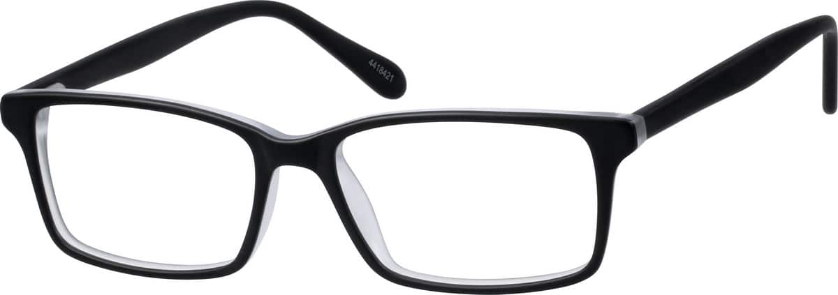 Zenni Black Thin Acetate Rectangle Eyeglasses