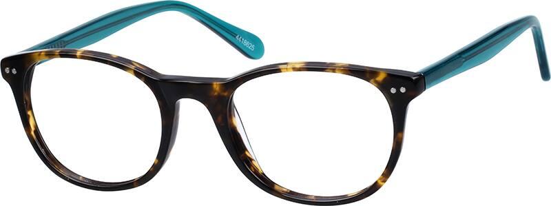 Thin Acetate Oval Eyeglasses