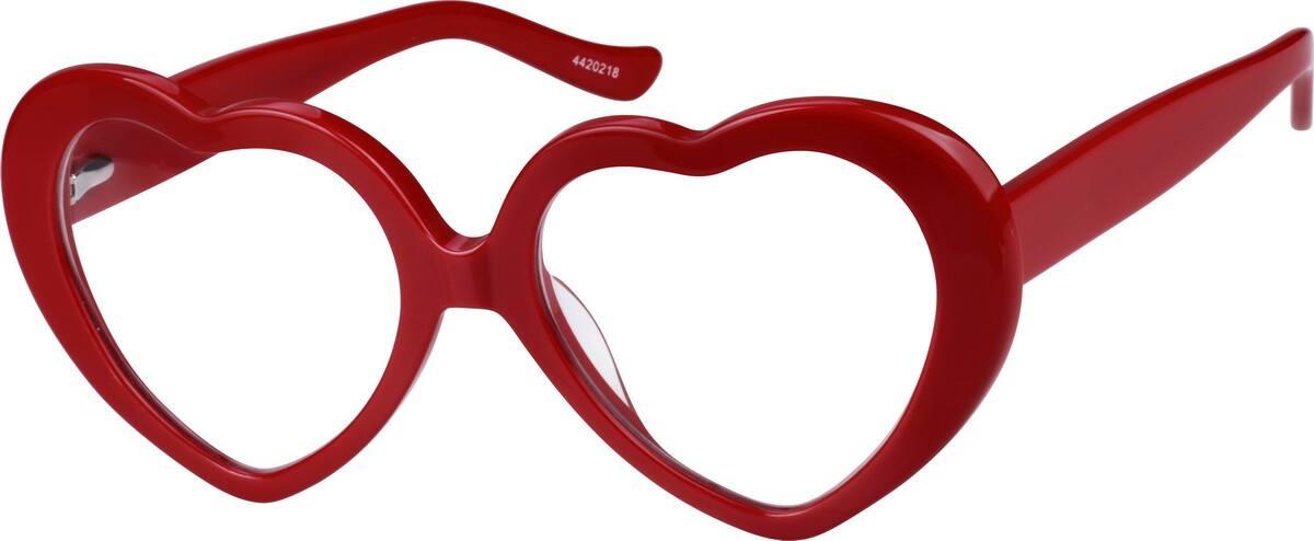 Zenni Optical Heart Shaped Glasses : Red Prescription Heart-Shaped Glasses #44202 Zenni ...