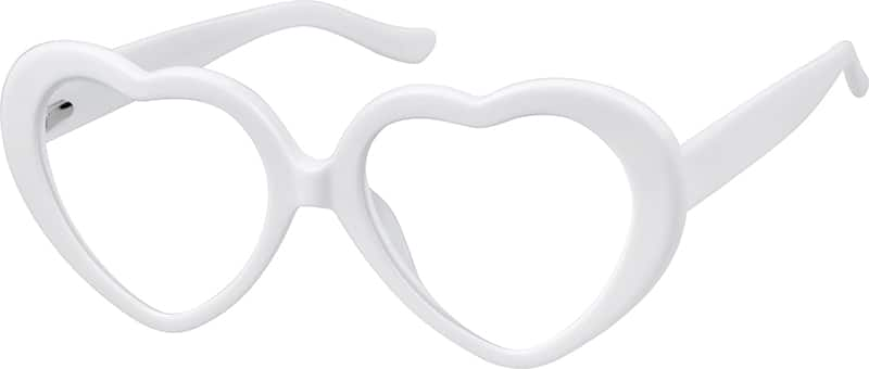 White Prescription Heart-Shaped Glasses #44202 Zenni ...