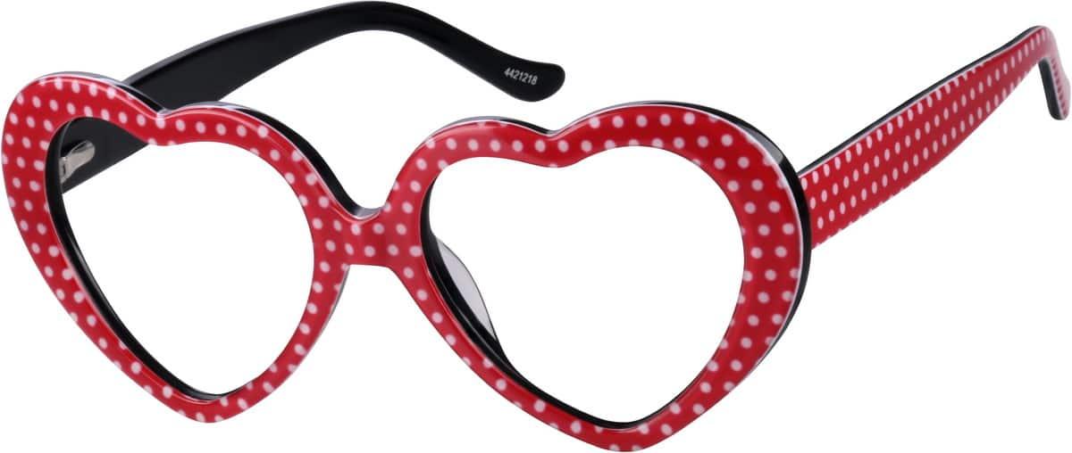 Zenni Optical Heart Shaped Glasses : Red Retro Heart-Shaped Eyeglasses #44212 Zenni Optical ...