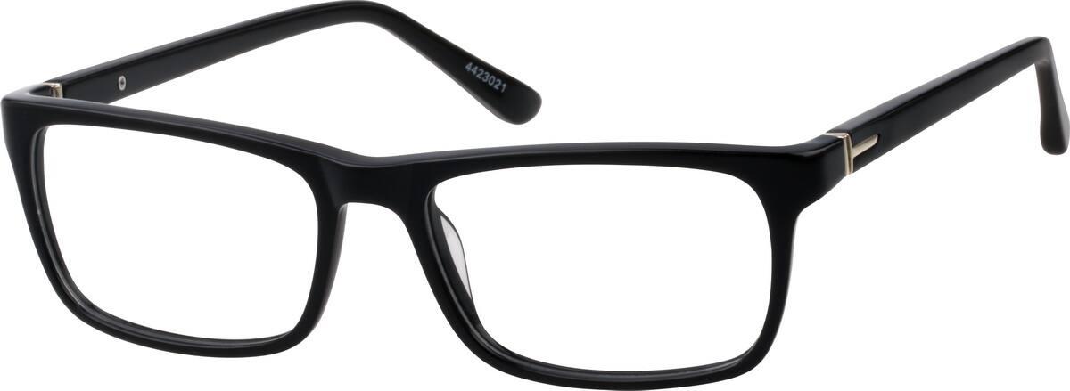 Zenni Black Rectangle Glasses
