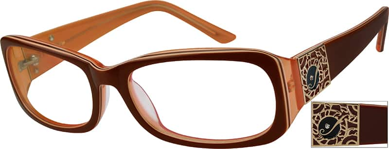 Women Full Rim Acetate/Plastic Eyeglasses #447615