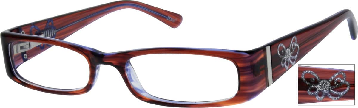 Girl Full Rim Acetate/Plastic Eyeglasses #449517
