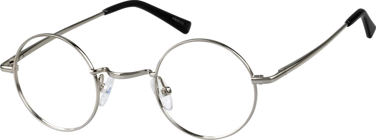 Silver 4500 Metal Alloy Full-Rim Frame with Spring Hinge