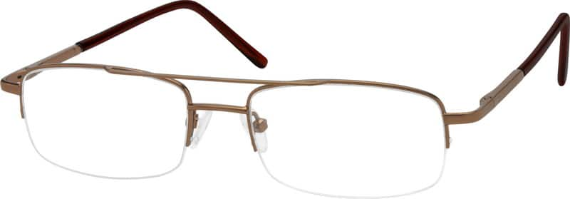Men Half Rim Metal Eyeglasses #451015