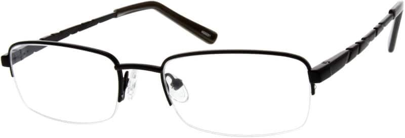 MenHalf RimStainless SteelEyeglasses #452221