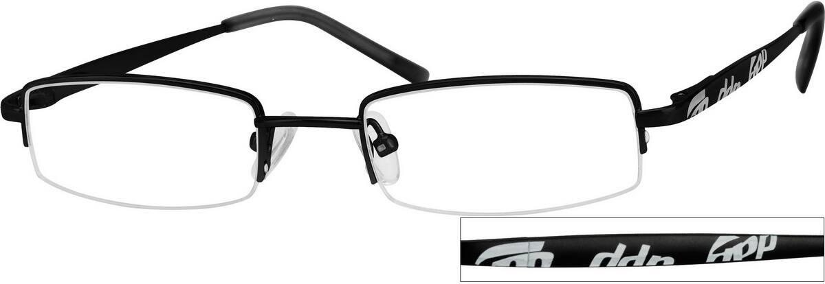 BoyHalf RimStainless SteelEyeglasses #456121