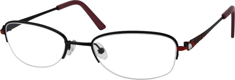 Women Half Rim Stainless Steel Eyeglasses #458717