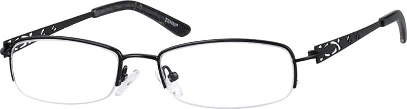 Women Half Rim Stainless Steel Eyeglasses #459418