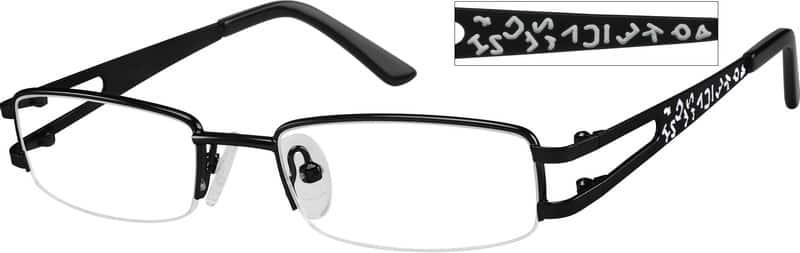 GirlHalf RimMetalEyeglasses #460117