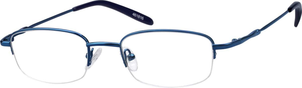 UnisexHalf RimMetalEyeglasses #461821