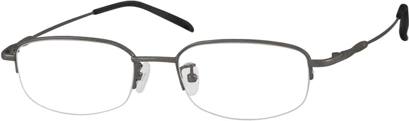 Men Half Rim Stainless Steel Eyeglasses #462816