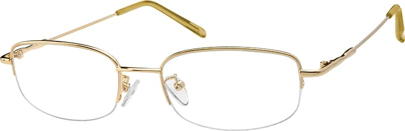 Men Half Rim Stainless Steel Eyeglasses #462814