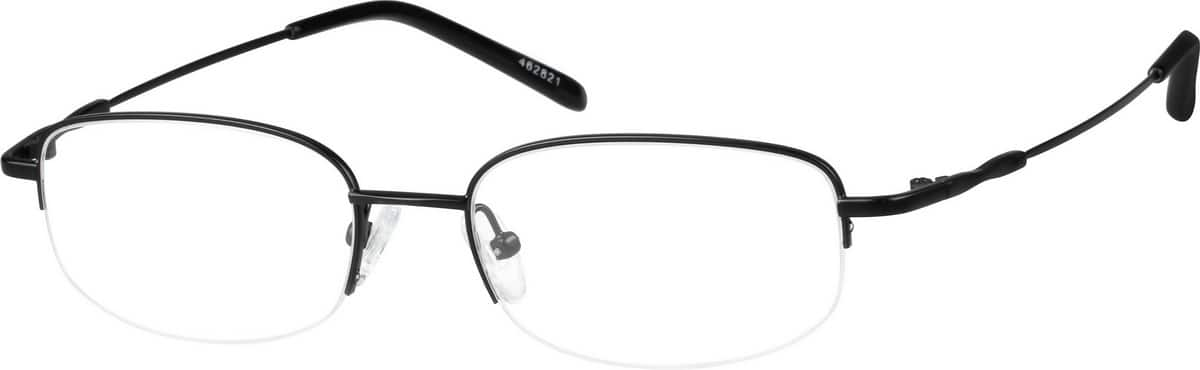 Metal Alloy / Stainless Steel Half Rim Frame (Same Appearance as Frame #9628)