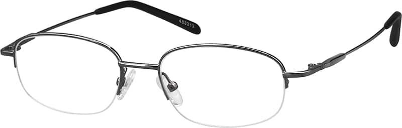 UnisexHalf RimMetalEyeglasses #463316