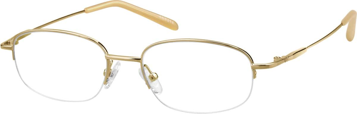 Lightweight Metal Half-Rim Eyeglasses