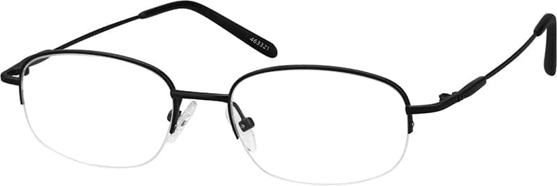 Men Half Rim Stainless Steel Eyeglasses #463316
