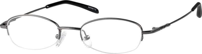 WomenHalf RimStainless SteelEyeglasses #463616