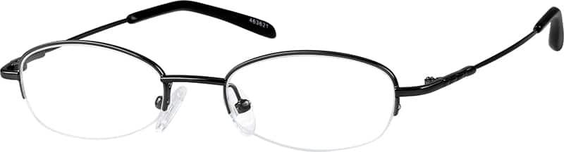 WomenHalf RimStainless SteelEyeglasses #463612