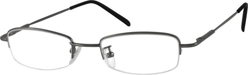 Men Half Rim Stainless Steel Eyeglasses #464715