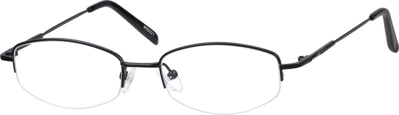 Men Half Rim Stainless Steel Eyeglasses #465021