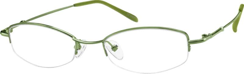 Women Half Rim Stainless Steel Eyeglasses #465224