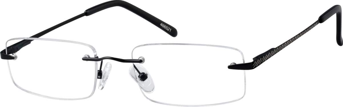Men Rimless Metal Eyeglasses #466511