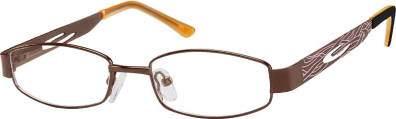 Girl Full Rim Metal Eyeglasses #469830