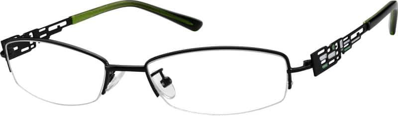 WomenHalf RimMetalEyeglasses #470221